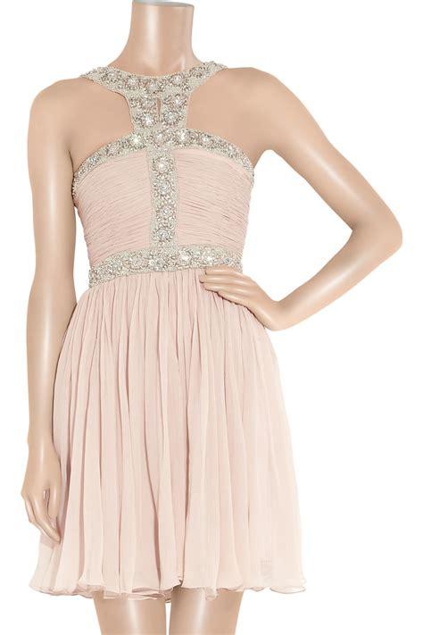 maxi samara brukat pink gilbert samara embellished silk crepe dress in pink