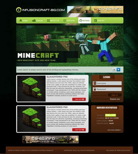 php forum templates free free simple minecraft template by mconev on deviantart