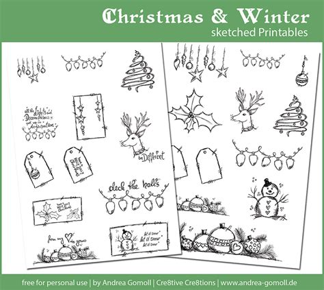 printable planner doodles free download christmas printables for your planner or