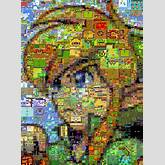 Artist creates mosaic of Link using images from a variety of Zelda ...