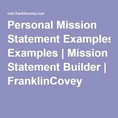 personal mission statement exles for life google