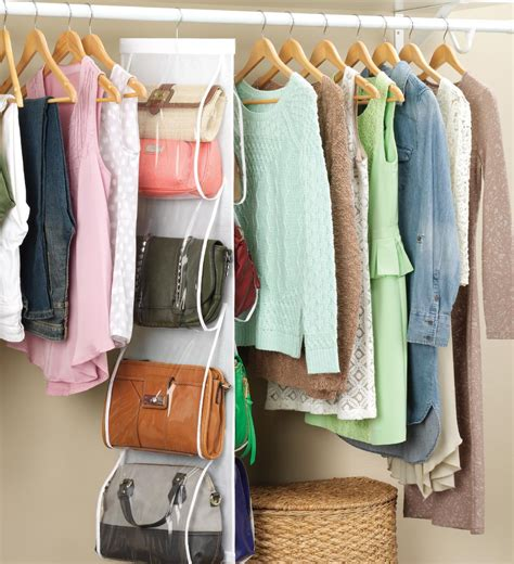 handbag organizer closet whitmor 6044 14 white collection