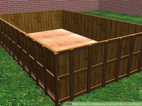 swimming pool holz how to build a swimming pool from wood and plastic 11 steps