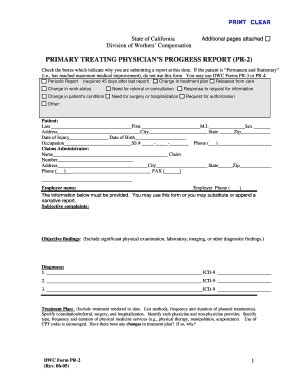 dwc homepage california department of industrial relations 2005 form ca dwc pr 2 fill online printable fillable