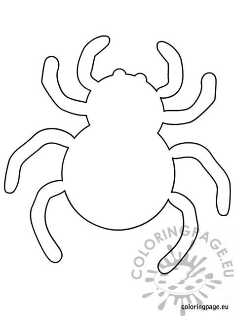 spider halloween template coloring page