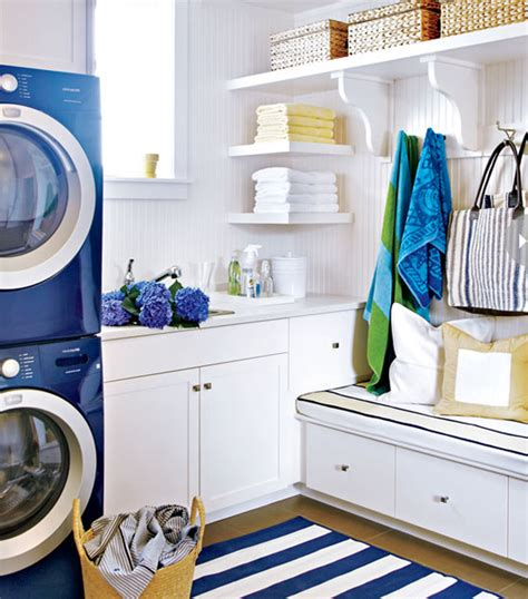 blue laundry bright blue laundry room