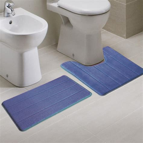 bathroom rugs that absorb water 2pcs super absorbent memory foam coral velvet toilet mat