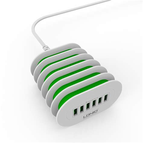 Ldnio A6702 6 Usb Ports 5v 7a Travel International Charger ldnio a6702 6 usb multi ports charging station smart adaptive 7a desktop universal fast charger