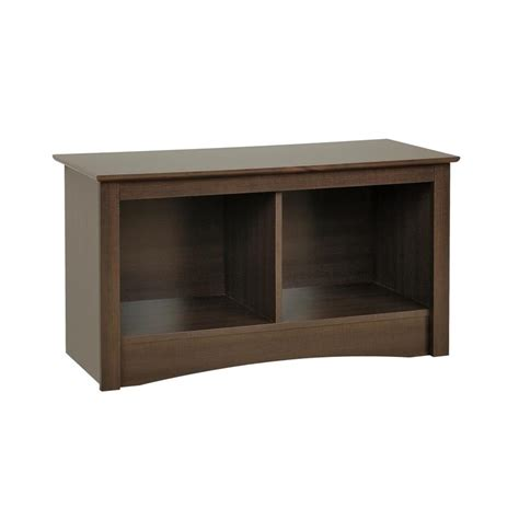 cubbie bench prepac sonoma collection twin cubbie bench espresso esc 3620