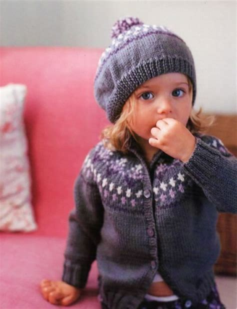 free baby beret knitting pattern knitting pattern for babies childs fair isle cardigan and