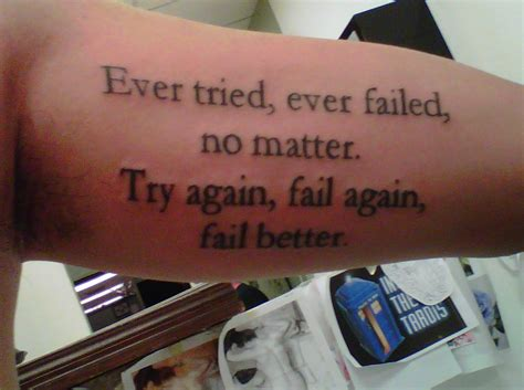 fail better fail better contrariwise literary tattoos