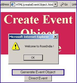 javascript tutorial roseindia javascript createeventobject method