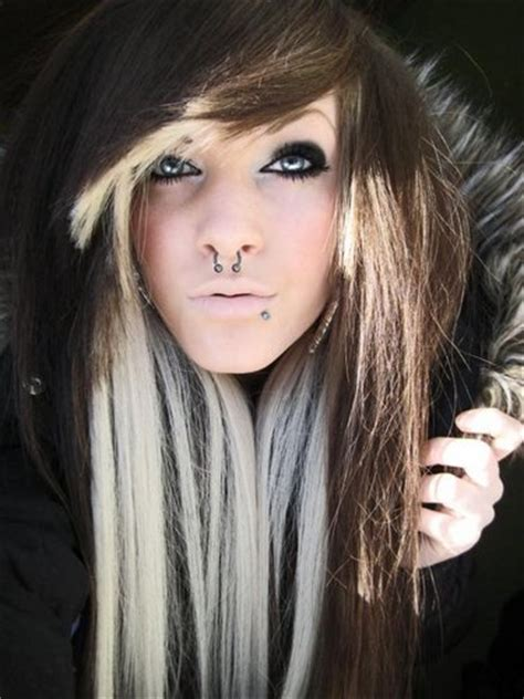 blonde in the front and brown and peekaboo highlights in pinterest scene kids official scene official twitter