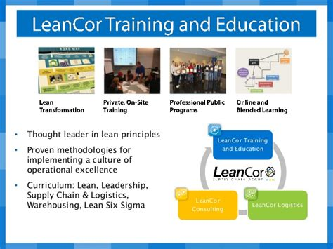 Southern Arkansas Mba Supply Chain by Leancor And Education Webinar Lean Live And