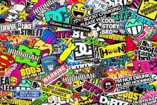 sticker wallpaper hoonigan sticker bombing by bora888 on deviantart