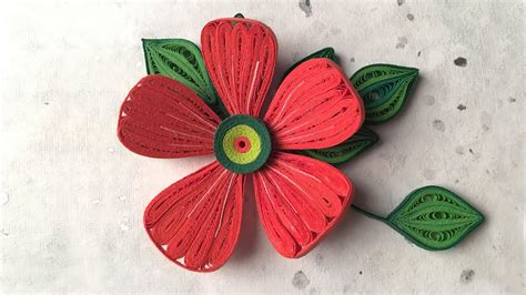 How To Make Paper Quilling Flowers - how to make beautiful flower design using paper