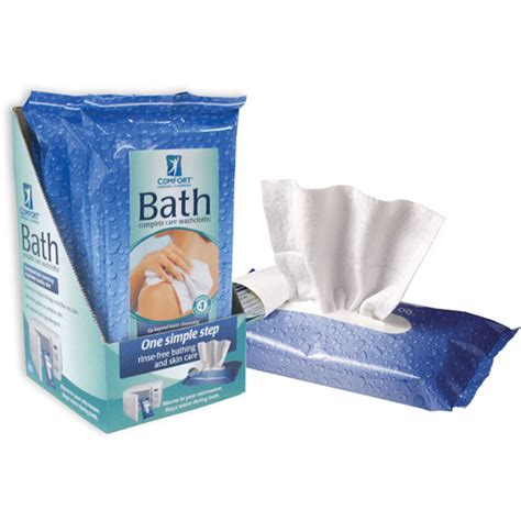 comfort bath cleansing washcloths ultra thick disposable