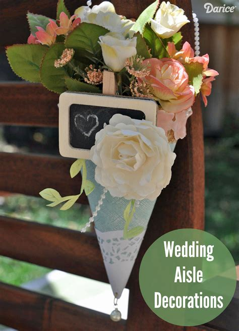 wedding crafts for wedding aisle decorations paper posy holders