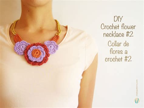 crochet pattern flower necklace crochet flower necklace 2 collar de flores a crochet 2