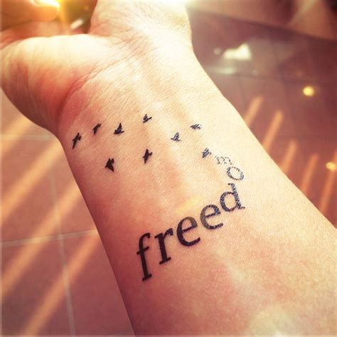freedom bird tattoo 40 birds wrist tattoos design