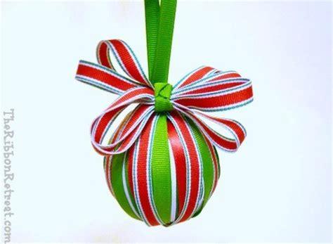 ribbon wrapped christmas ornament the ribbon retreat blog