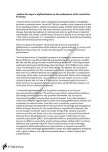 Globalization Essay Introduction by An Essay On Globalisation