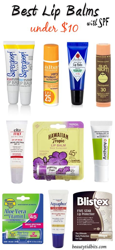 7 Great Lip Balms With Spf For Summer by Best Lip Balms With Spf 10