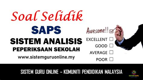 sistem analisis peperiksaan sekolah saps online soal selidik sistem analisis peperiksaan sekolah saps