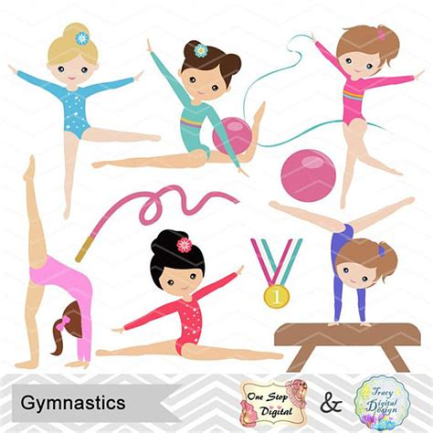 gymnastics clipart gymnastics digital clipart digital gymnastics clip