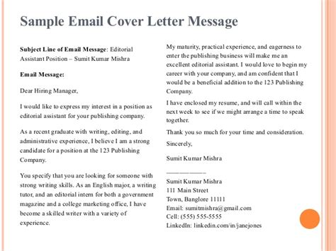 publishing cover letter importance of resume and cover letter