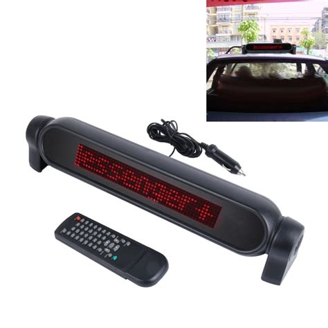 Car Led The Messenger Sign Progammable Display Board Papan Pesan Mobil Dc 12v Car Led Programmable Showcase Message Sign Scrolling Display Lighting Board With Remote