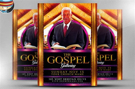gospel gathering flyer template flyer templates on