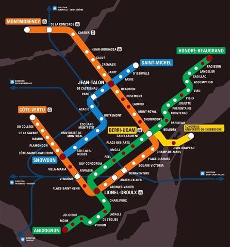 montreal metro map carte metro montreal stm subway application