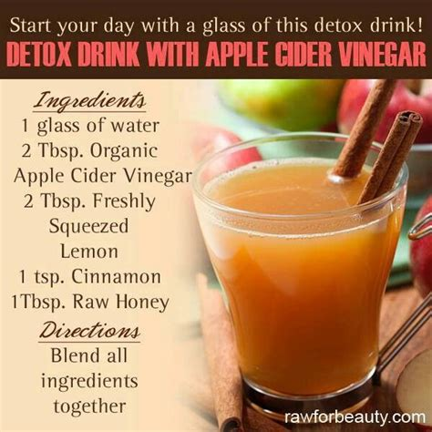 Apple Cider Vinegar And Apple Juice Detox by Detox Drink W Apple Cider Vinegar For You