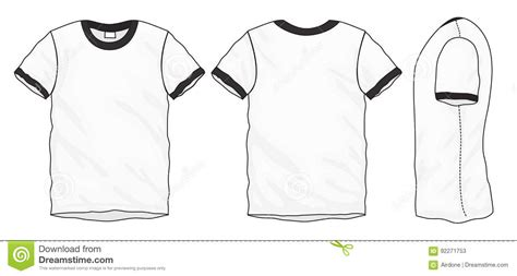 Black White Ringer T Shirt Design Template Stock Vector Image 92271753 Ringer T Shirt Template