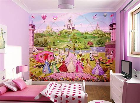 Disney Princess Bedroom Ideas Disney Princess Wallpaper Can Turn A Bedroom In Pink And White Into Something Magical