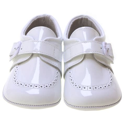 baby boy and shoes baby boy white patent pram shoes velcro buckle cachet