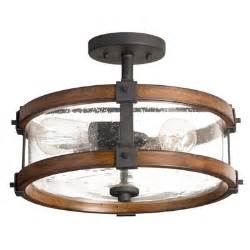 Kitchen Lighting Fixtures Lowes Kichler Lighting Barrington 14 02 In Semi Flush Mount Light Lowe S Canada