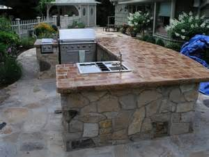 Premade Kitchen Countertops - outdoor bbq islands for your backyard home design ideas