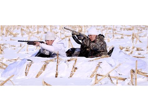 layout blind camo cover banded 2 man layout blind snow cover 600d fabric