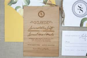 and rustic wood engraved wedding invitations