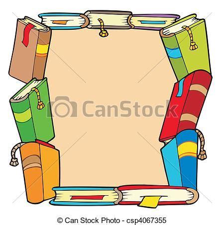clipart libri clipart vettoriali di cornice vario libri vettore