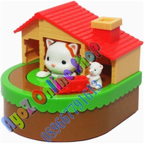 Celengan Rumah celengan koin rumah kucing pusat mainan anak murah