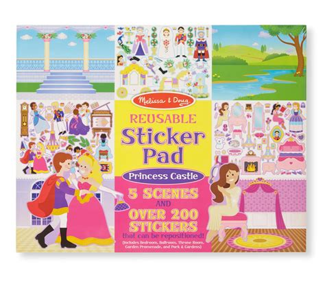 Cars Reusable Sticker Book by Melissa Doug Reusable Sticker Pad Princess