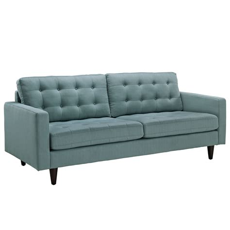 Empress Contemporary Button Tufted Upholstered Sofa Laguna Tufted Sofa