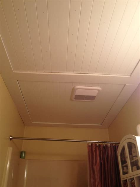 our beadboard bathroom ceiling things i ve made