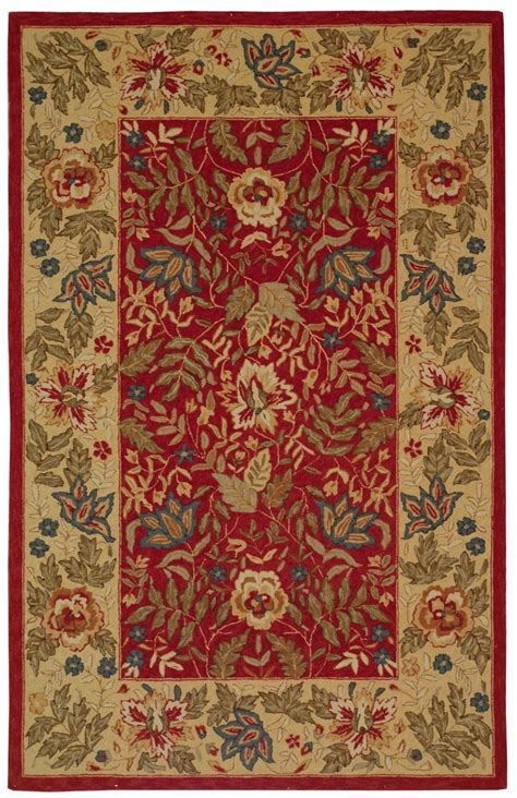 country rug safavieh chelsea country floral area rug collection rugpal hk140 1600