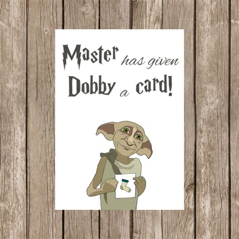harry potter birthday card template printable birthday card harry potter dobby watercolor