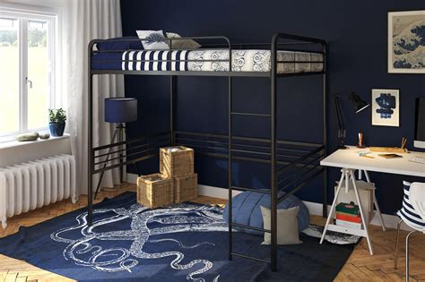 futon price metal loft bed dhp furniture