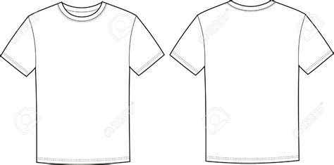 T Shirt Front And Back Clipart T Shirt Front And Back Template